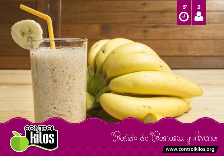 Receta-Batido-Banana-Avena